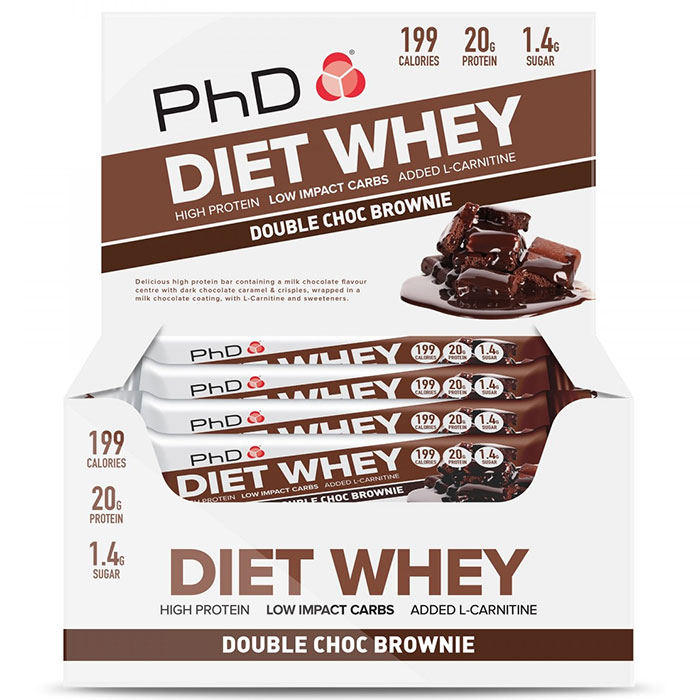 Diet Whey Bar 12 Bars Double Choc Brownie