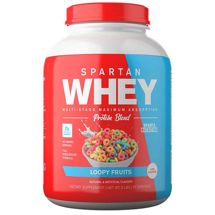 Image of Sparta Nutrition Spartan Whey 5lb Loopy Fruits