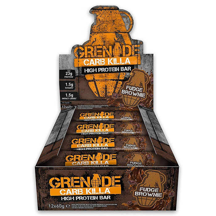 Image of Grenade Carb Killa Bars 12 Bars Fudge Brownie