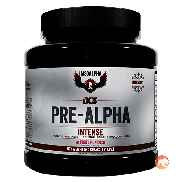 Image of IMSOALPHA iX3 Pre-Alpha 550g-Fruit Punch
