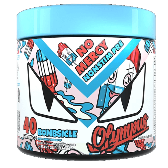 Image of Olympus Lyfestyle LLC No Mercy Blue Raspberry Candy 40 Servings