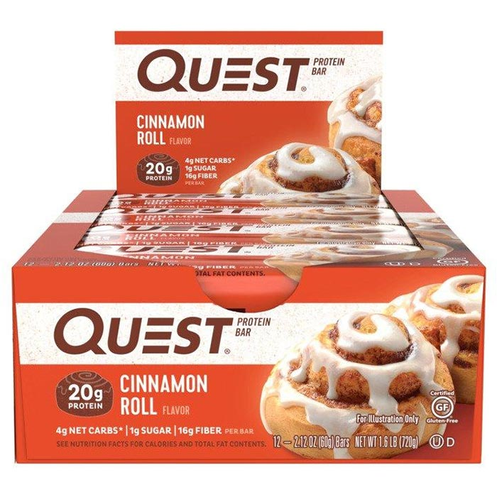 Image of Quest Nutrition Quest Bars 12 Bars Cinnamon Roll