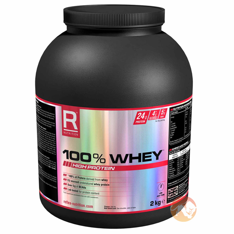 Image of Reflex 100% Whey 2kg Strawberries & Cream