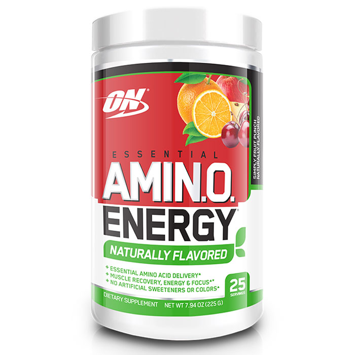 Amino Energy Naturally Flavoured 25 Servings Simply Fruit Punch