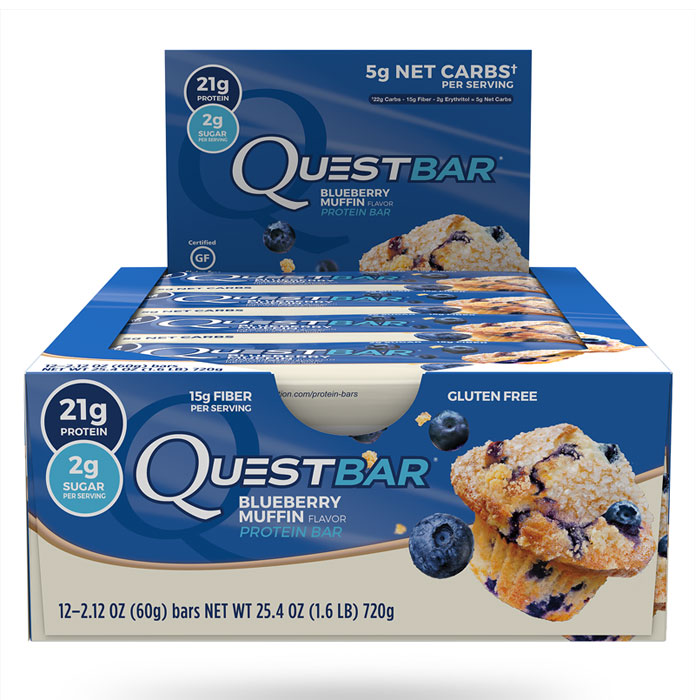 Image of Quest Nutrition Quest Bars 12 Bars - Blueberry Muffin
