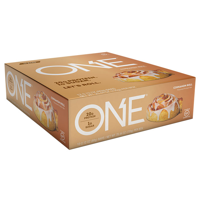 Image of Oh Yeah Nutrition Oh Yeah One Bar 12 Bars Cinnamon Roll