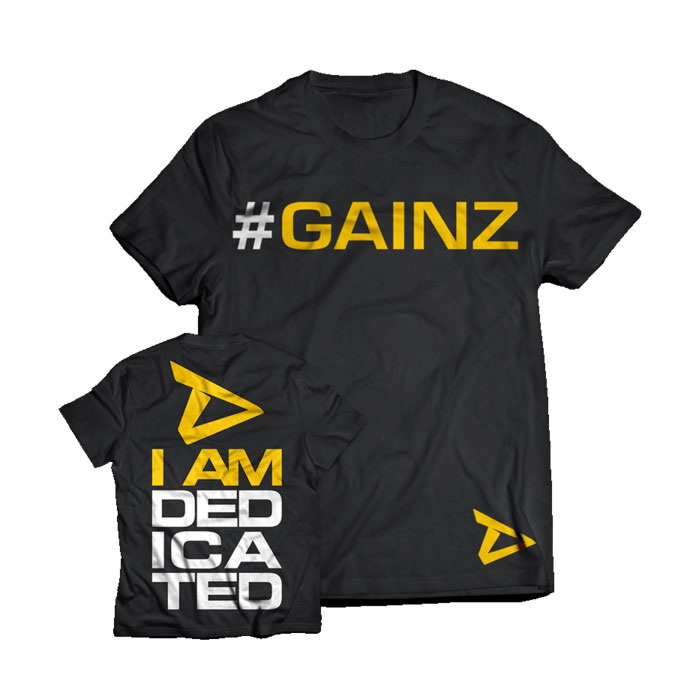 Buy dedicated nutrition gainz t shirt reviews for I can only please one person per day t shirt