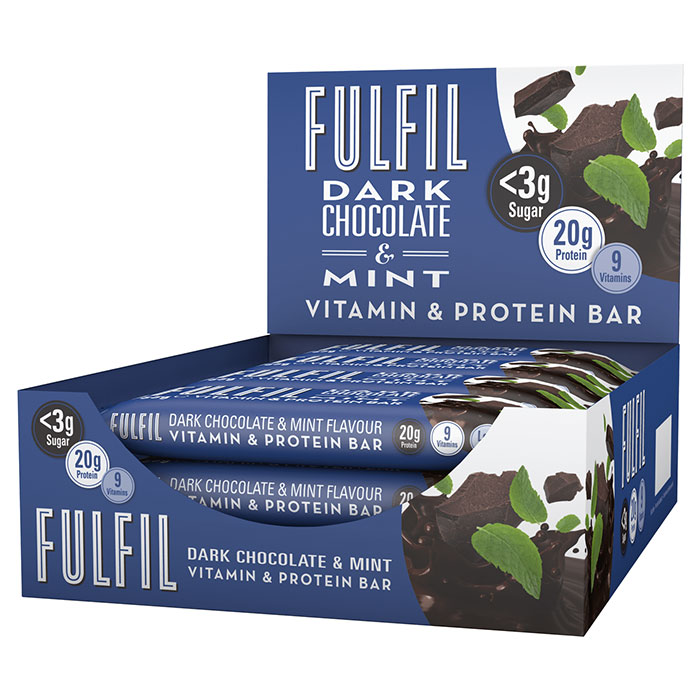 Image of Fulfil Nutrition Fulfil Vitamin and Protein Bar 15 Bars Dark Chocolate and Mint
