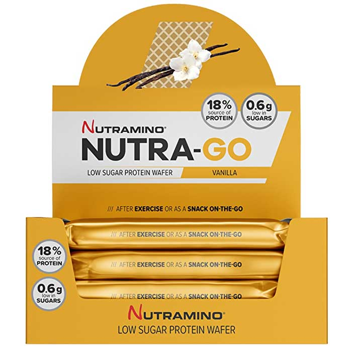 Image of Nutramino Nutra-Go Protein Wafer 12 Wafers Chocolate