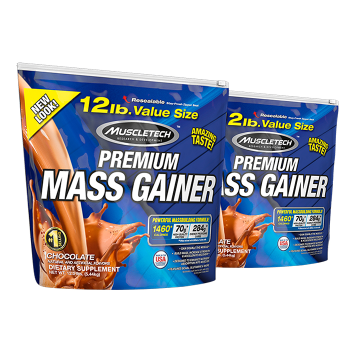 Image of Muscletech 100% Mass Gainer 5.4kg (12lb)-Strawberry