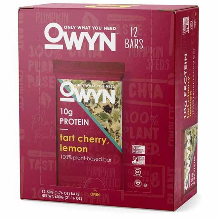 Image of OWYN OWYN Vegan Plant Based Protein Bar 12 Bars Tart Cherry Lemon