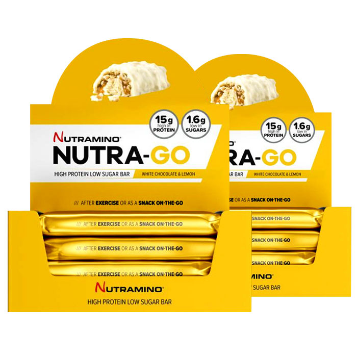 Image of Nutramino Nutra-Go Protein Bar 12 Bars Chocolate & Peanut Butter