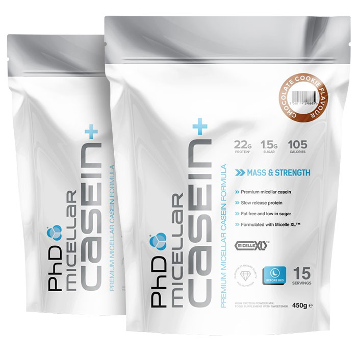 PHD Micellar Casein+ 450g Strawberry