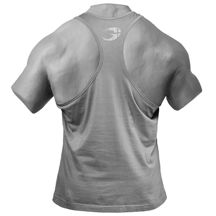 Distressed T- Back Camouflage Print - L