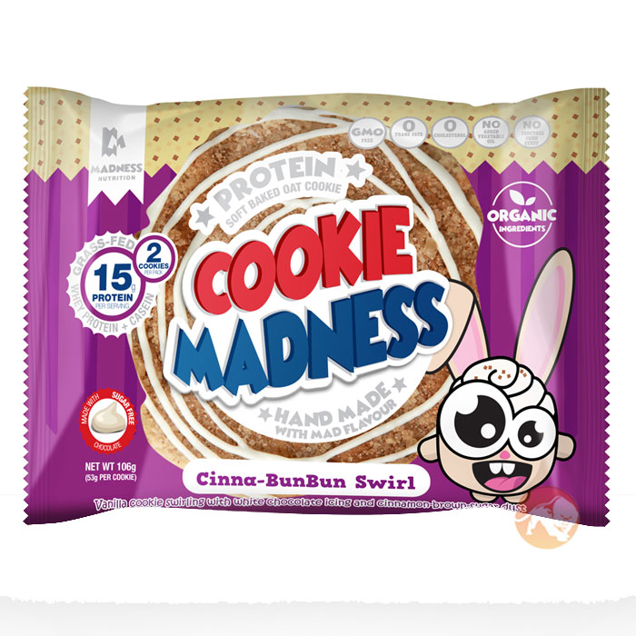 Image of Madness Nutrition Cookie Madness 12 Cookies Cinna-BunBun Swirl
