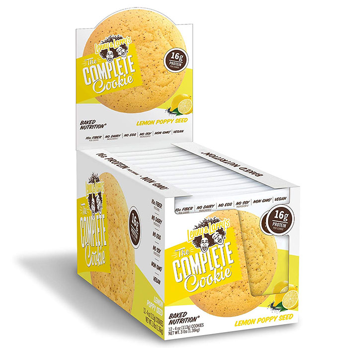 Image of Lenny & Larry's Complete Cookie 12 Pack Lemon Poppy