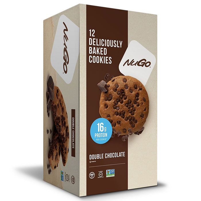 Image of NUGO Nutrition Nugo Protein Cookie 12 Cookies Double Chocolate