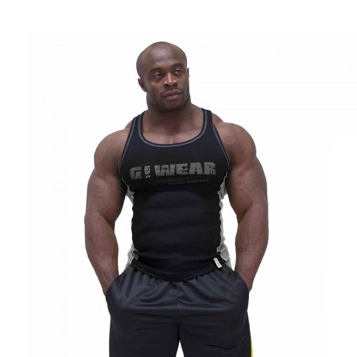 Image of Gorilla Wear G!Wear Rib Tank Top Black/Grey Large