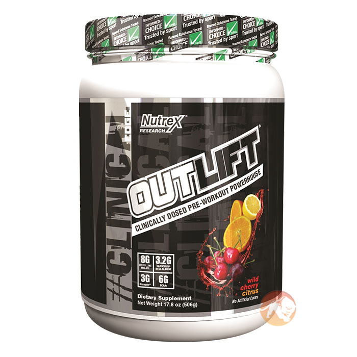 Image of Nutrex Outlift 20 Servings Blue Raspberry