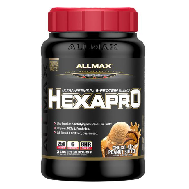 Image of Allmax Nutrition Allmax HexaPro 1.37 kg Chocolate Peanut Butter