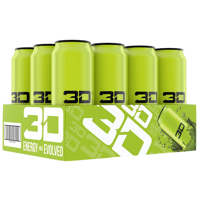 Image of 3D Energy 3D Energy Drink 12 Cans Green