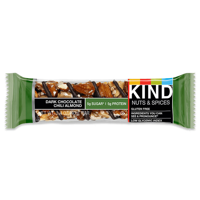 Kind Bars Nuts and Spices 1 Bar Dark Chocolate Chilli Almond