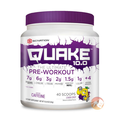 Image of Scivation Quake 10.0 20 Servings Lemon Drop