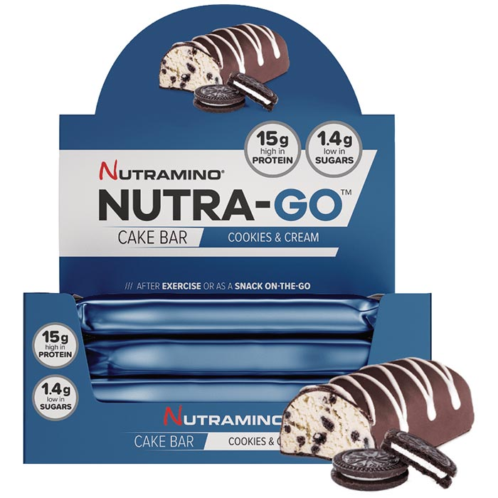 Image of Nutramino Nutra-Go Cake Bars 16 Bars Cookies and Cream