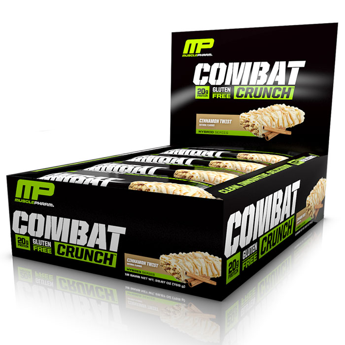 Combat Crunch Bars 12 Bars-Cinnamon Twist