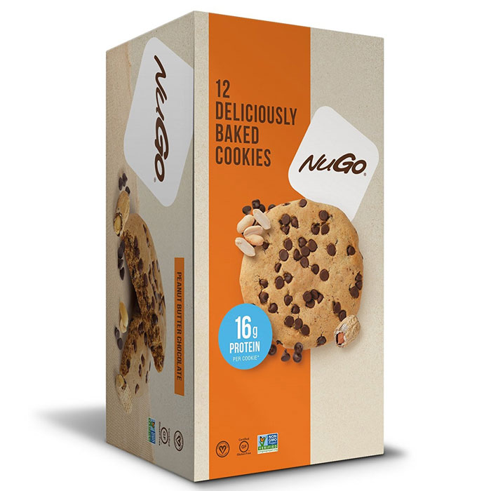 Image of NUGO Nutrition Nugo Protein Cookie 12 Peanut Butter Chocolate