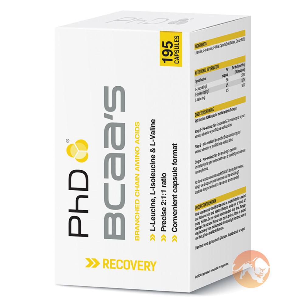 Image of PHD Nutrition BCAA'S 195 Capsules