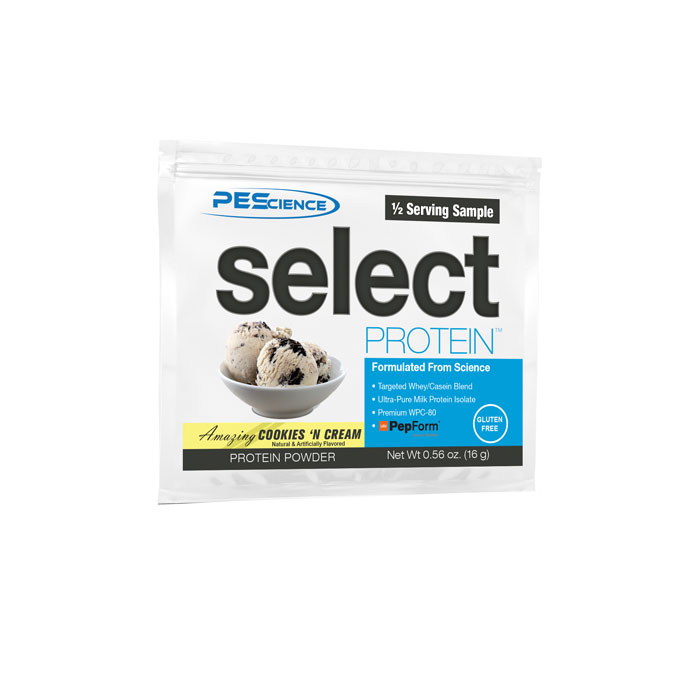 Select Protein Trial Serving Cookies and Cream