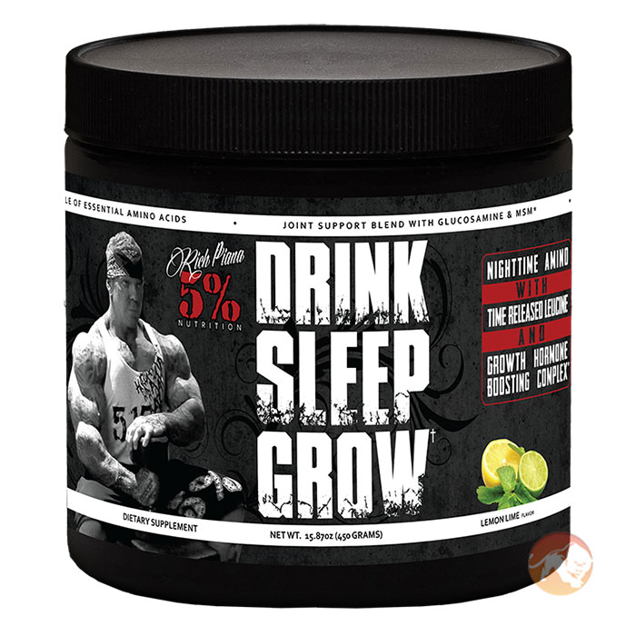 Image of 5% Rich Piana Drink Sleep Grow 30 Servings Lemon Lime