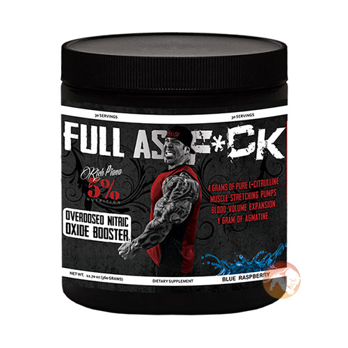 Image of 5% Rich Piana Full As Fuck 30 Servings Blue Raspberry