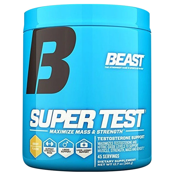 Image of Beast Sports Nutrition Super Test Powder 360g 45 Servings-Iced Tea
