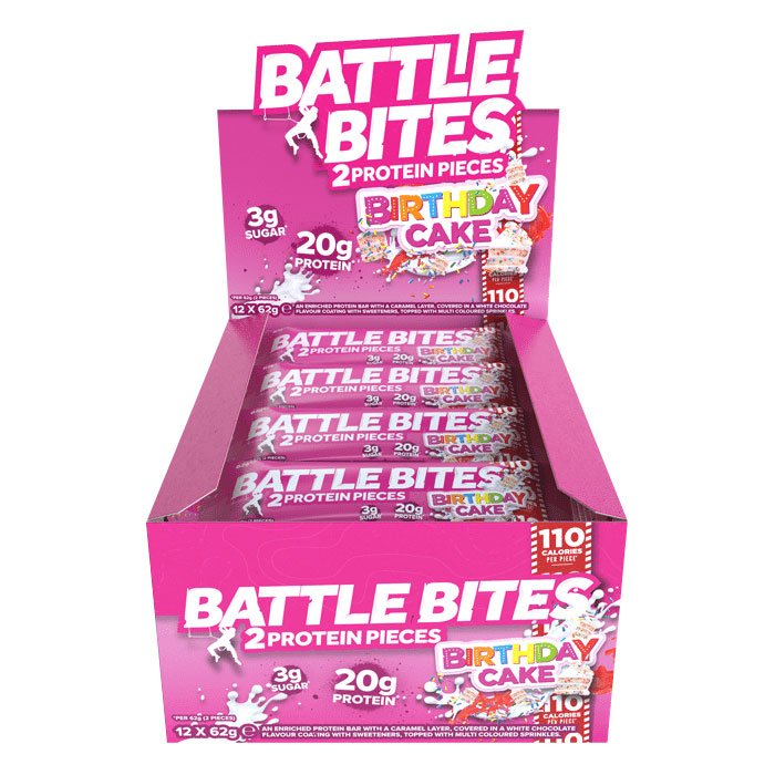 Image of Battle Oats Battle Bites 12 Bars Frosted Carrot Cake