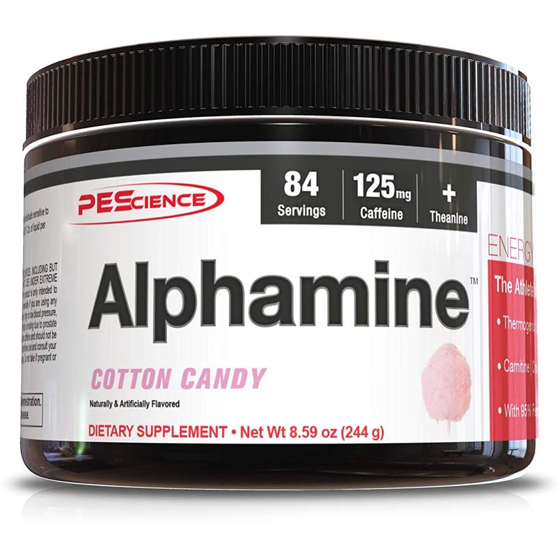 Image of PEScience Alphamine 84 Servings Cotton Candy