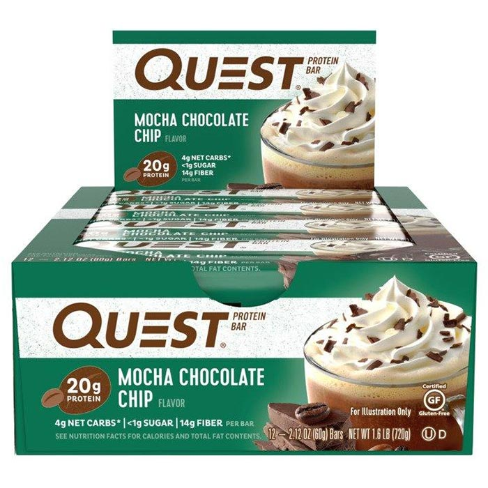 Quest Bars 12 Bars Mocha Chocolate Chip