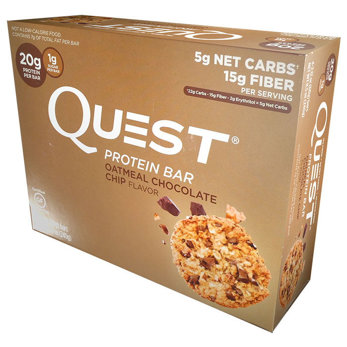 Quest Bars 4 Bars Oatmeal Chocolate Chip