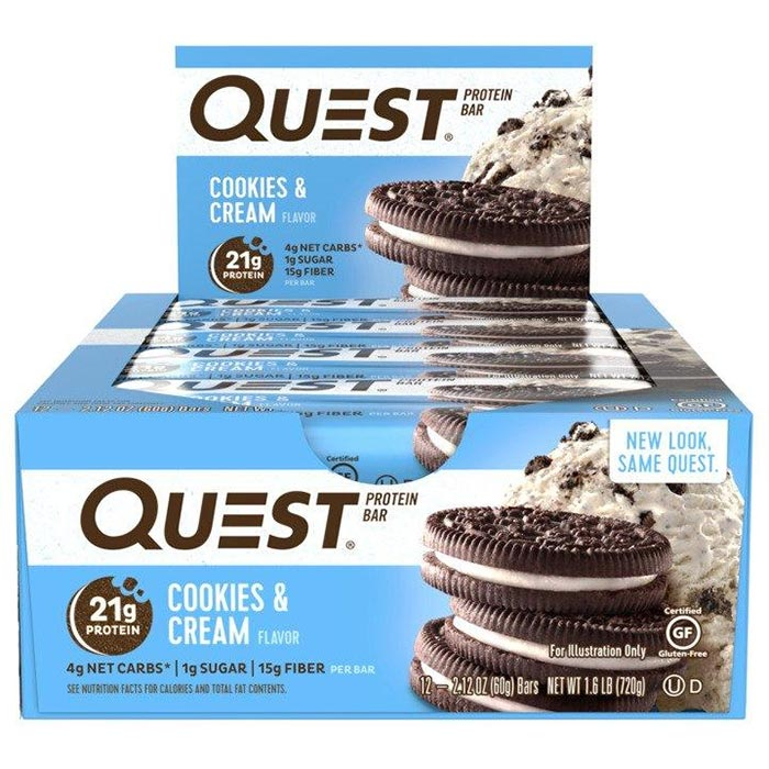 Image of Quest Nutrition Quest Bars 12 Bars Cookies & Cream