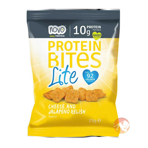 Protein Bites Lite 1 Pack Cheese and Jalapeno Relish