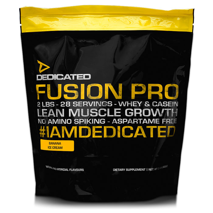 Image of Dedicated Nutrition Fusion Pro 908g Banana Ice Cream