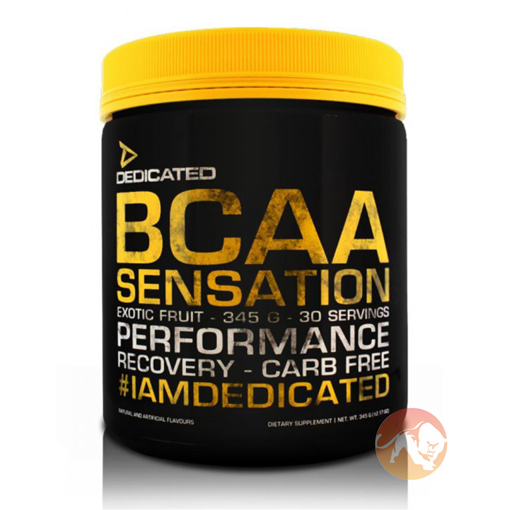 Image of Dedicated Nutrition BCAA Sensation 30 Servings Exotic Fruit
