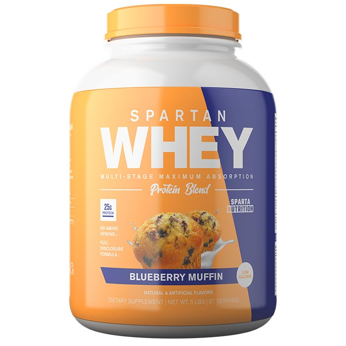 Image of Sparta Nutrition Spartan Whey 5lb Blueberry Muffin