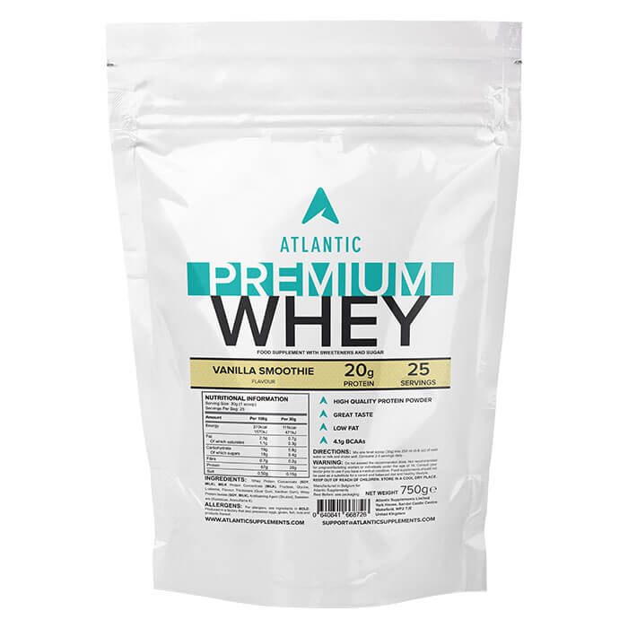 Image of Atlantic Supplements Atlantic Premium Whey 750g Vanilla