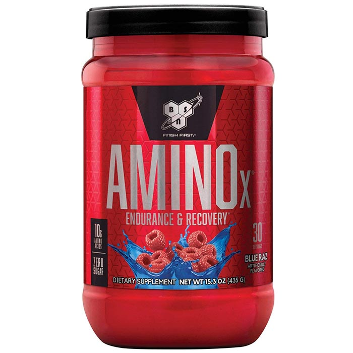 Image of BSN Amino X 30 Servings - Blue Raspberry