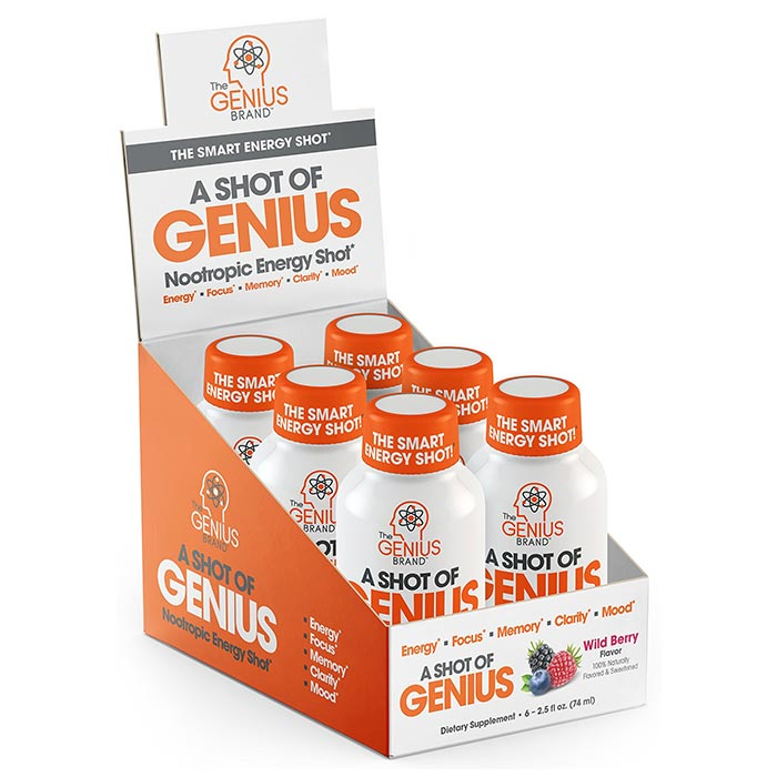 Image of The Genius Brand A Shot Of Genius 6 Bottles Wild Berry