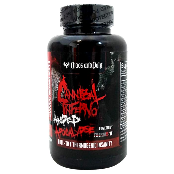 Image of Chaos & Pain Cannibal Inferno Amped Apocalypse 90 Capsules