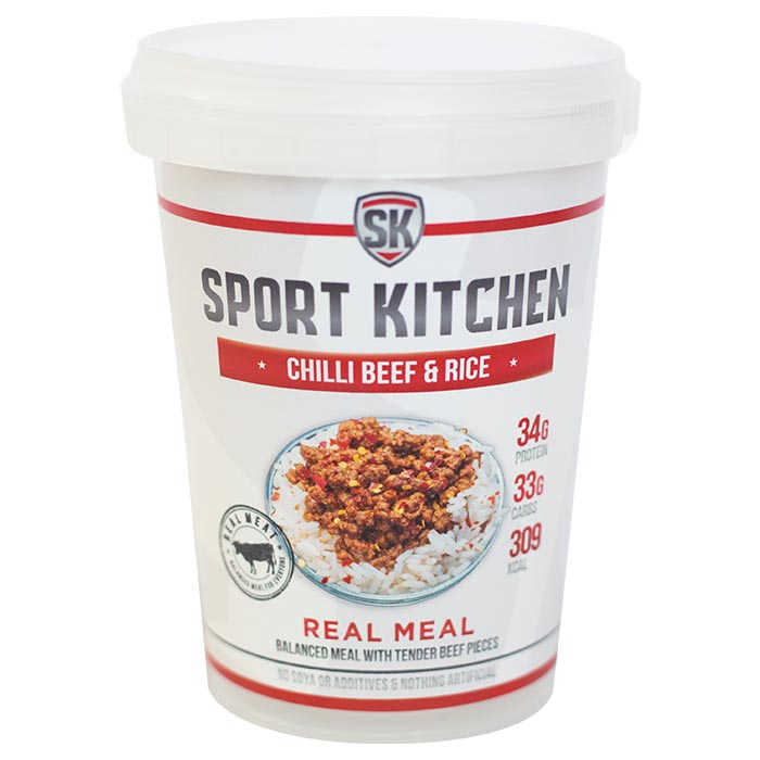 Image of Sports Kitchen Real Meal Chilli Beef & Rice 1 Meal