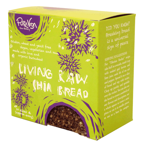 Image of Pura Vida Living Raw Chia Bread 400g